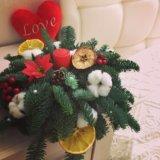 Новогодняя композиция с ягодами