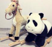 Качалка лошадка и панда. 🐴 🐼