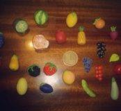 Миниатюрные фрукты, ягоды и овощи