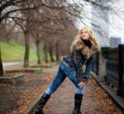 Турецкая джинсовая куртка с мехом