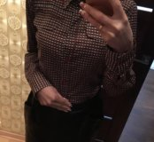 Рубашка и кожаная юбочка