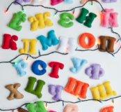Алфавит буквы из фетра
