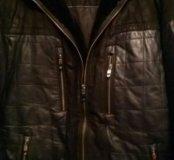 Куртка зимняя, кожа+замша. Очень теплая.
