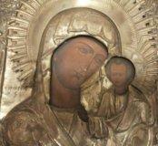 Икона 19 века Казанская Богородица 32х27