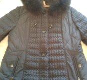 Зимнее стеганное пальто размер 52-54