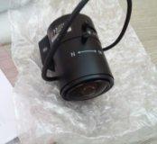 Две видеокамеры hikvision и один объектив