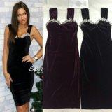 Чёрное бархатное платье новое