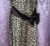 Леопардовое платье 52-54