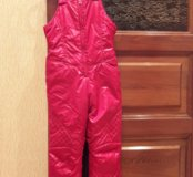Зимние теплые лыжные брюки комбинезон  Гулливер