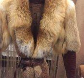 Куртка и цельных шкур лисы+🎁