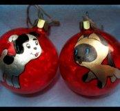 Елочные Новогодние игрушки Котенок Гав