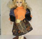 Кукла фарфор интерьеоная