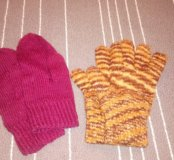 Перчатки, варежки, шарф, берет