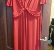 Красное платье новое 58-60р