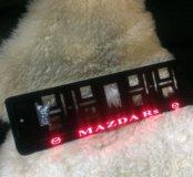 Mazda рамка номера с подсветкой надписи