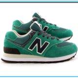 Кроссовки New Balance 574 зелёные с синим