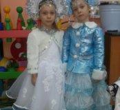 Костюм снегурочка и снежинка
