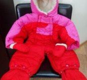 Детский зимний комбинезон бу для девочки 86