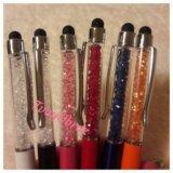 Ручка шариковая с кристаллами  и стилусом