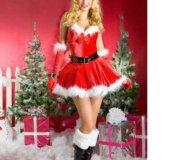Новогодний костюм снегурочки санты