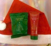 Новогодний набор:крем для рук,мыло,колпак