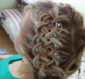 Прически, ажурные косы, плетение