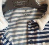 пижама детская,слип на 12-18 мес