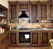 Кухня из массива. Кухня под старину