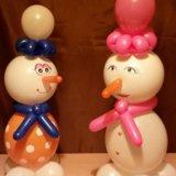 Снеговичок из шаров