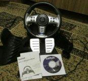 Руль компьютерный Saitek 4-IN-1 vibration wheel