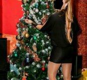 Платье секси, атласное р 46-48