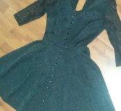 Платье черное с необычным узором