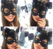 Кожаные маски. Маска кошка,маска лиса,маска зайка