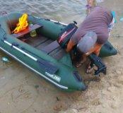 Лодка с мотором HDX -5 лс