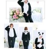 Черная Панда, кигуруми комбинезон новый