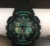 Часы G-Shock чёрный цвет с бирюзой