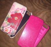 Чехол на Айфон 5 5s розовый