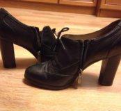 Ботильоны ботинки туфли натуральная кожа осень