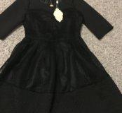 Вечернее чёрное платье