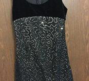 Платье с паетками блестящее бархатное