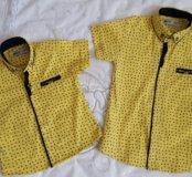 Одинаковые рубашка для мальчиков