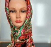 Шёлковый платок ETRO ручной работы❗️