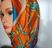 Шёлковый платок Dior ручной работы ❗️