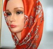 Шёлковый платок Roberto Cavalli ручной работы ❗️