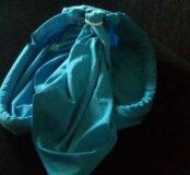 Слинг на кольцах голубого цвета