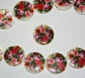 Бусины с цветами