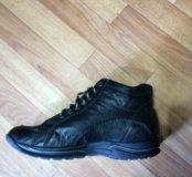 Классные натуральные ботинки 45р.новые