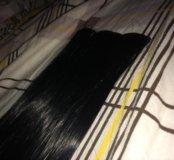 Волосы на заколках Черные