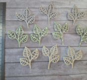 Вырубка листики цветные