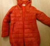 Куртка теплая ( синтепон) кожзам